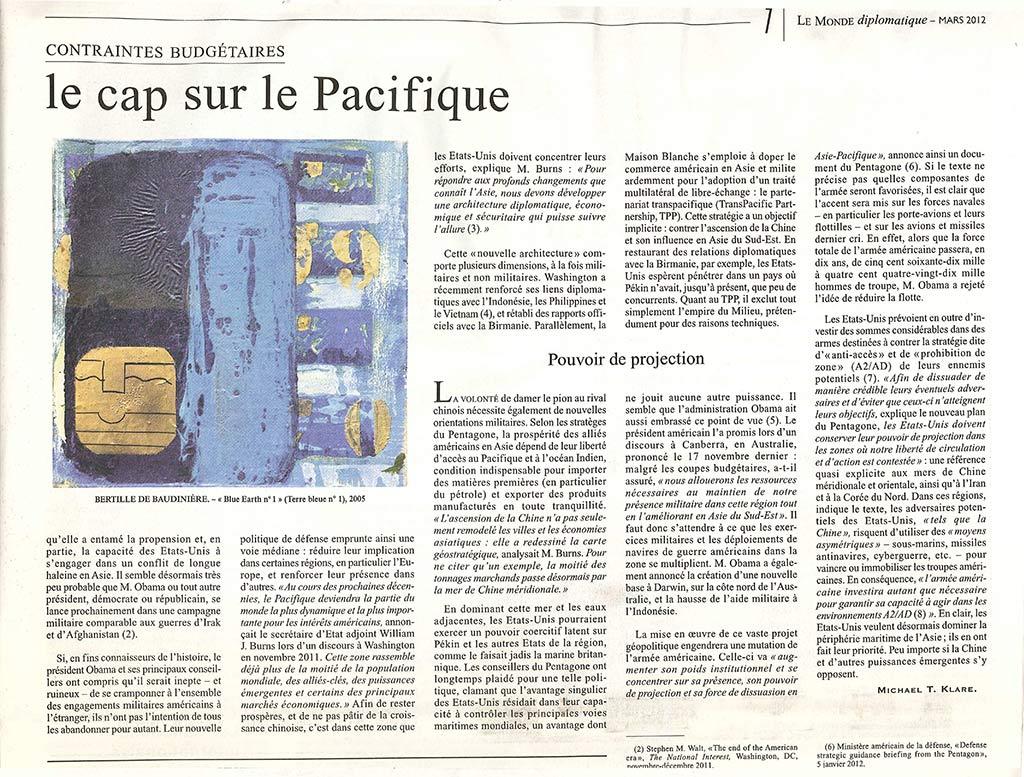 article sur Bertille de Baudinière